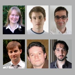 The 2011 QEOD Thesis Prize winners. (top row from the left) Maiken Mikkelsen, Simon Gröblacher and Albert Schliesser. (bottom row from the left) Pavel Ginzberg, Alex Hayat and Alberto Politi.