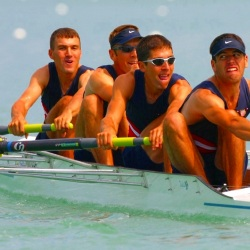 Teaming up in the right number. In rowing a given number of athletes join forces to compete. No deviation from this number could prevail during a competition. Similarly, in Efimov physics only certain numbers of bosons can bind together.