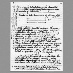 �Laser� in Gordon Gould�s notes. This famous page of Gordon Gould�s laboratory notebook records the laser working principle and acronym. It is dated November 13, 1957.